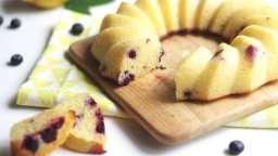 Bundt cake au citron et myrtilles