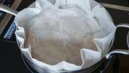 Découper un disque de papier sulfurisé
