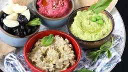 Mezze houmous et quinoa, aux trois couleurs