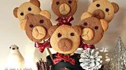 Oursons de Noël en sucettes