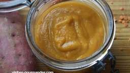Soupe patates douce, carottes et lentilles corail