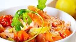 Recette tagliatelles fraîches au safran et deux saumons