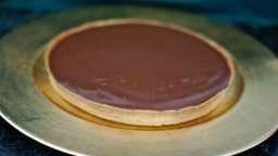Tarte au chocolat manjari, caramel beurre salé