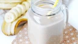 Chocolat chaud à la banane & lait de noisettes