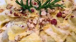 Ravioli crème citron et parmesan