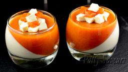 Panna cotta vanille et abricot