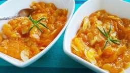 Compote d'abricots au miel, amandes et romarin