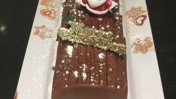 Bûche roulée vanille chocolat allégée
