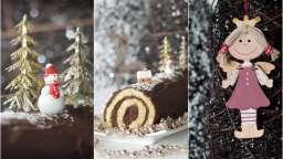 Bûche de Noël chocolat et café