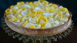 Tarte citron, mangue et coco, d'après Isabelle