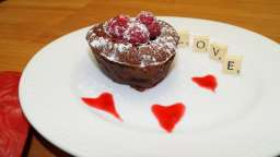 Double coeur coulant chocolat framboise