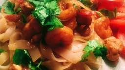 Pad Thai aux crevettes et au poulet