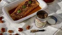 Saumon laqué au sirop d'érable noix de Pécan et sésame