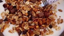 Granola au sirop d'érable, chocolat et fruits secs