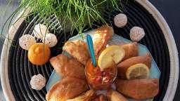 Pastels thon et gambas sauce vierge