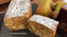 cake aux spéculoos et aux poires