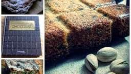Monsieur Cuisine ou pas....... les brownies nature (blondies) ) au sucre de canne et aux pistaches.