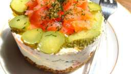 Cheesecake au saumon fumé sans cuisson