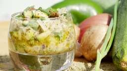 Tartare alcalin et aromatique de légumes et champignons