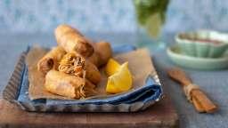 Cigares aux crevettes et poissons