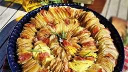 Tian de pommes de terre et speck