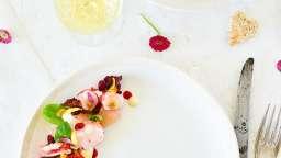 Salade de homard au pamplemousse et mayonnaise au yuzu