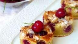 Moelleux aux cerises, chocolat blanc et à la cardamome