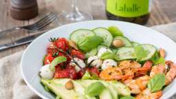 Salade avocat crevettes tomate & concombre
