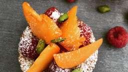 Tartelettes aux abricots et framboises