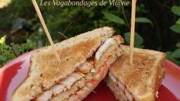 Club sandwichs au poulet tandoori et coleslaw