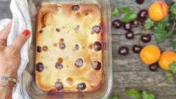 Clafoutis aux Abricots et Cerises de Provence à la poudre d'amande