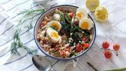Couscous, asperges et œufs à l'Egyptienne