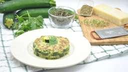 Mille-feuille de courgette au fromage et herbes fraîches