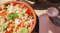 Salade de boulghour au poulet et aux fèves