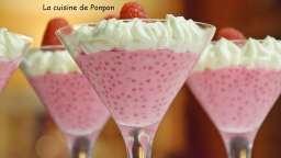 Perles du Japon au lait de coco et framboises