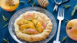 Tartelettes fines pêches et miel de romarin