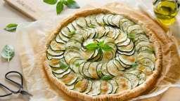 Tarte fine courgettes mozzarella