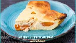Gâteau au fromage blanc aux abricots