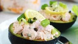 Avocats farcis aux saumon