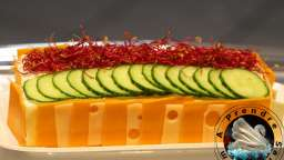 Sandwich cake crudités fromages