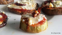 Mini pizza de courgette