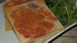 Croustillants de tomates et mozzarella