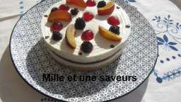 Entremet mousse chocolat blanc et son insert prune - mille et une saveurs dans ma cuisine