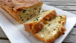 Cake à la courgette, chèvre frais et menthe - Philandcocuisine