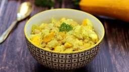 Curry de quinoa, pois-chiches et courgette