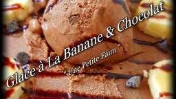 Glace à la banane et chocolat