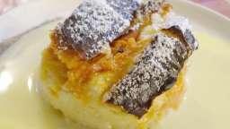 Gâteau de brioche perdue aux abricots et brugnon