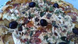 Tarte tatin au chèvre frais et légumes d'été