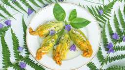 Fleur de courgette farcie au basilic
