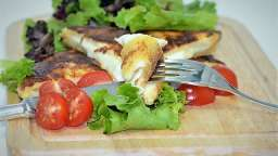 Pain perdu jambon et mozzarella